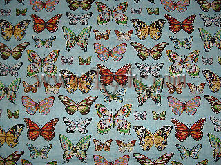 Butterflies on Lt. blue