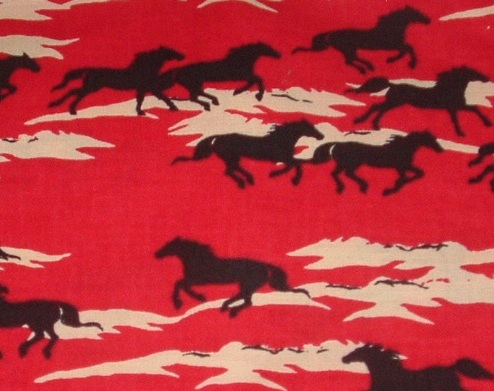 Horses on Red