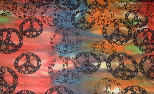 Multi color Tye Dye Peace sign