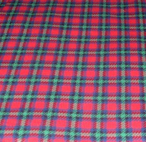 Red and Green Plaid saddle pad